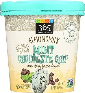 365 Everyday Value, Almondmilk Mint Chocolate Chip Non-Dairy Dessert, 1 pint, (Frozen)