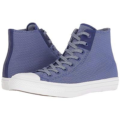 Converse Chuck Taylor(r) All Star(r) Chuck II Woven Hi (True Indigo/Blue Granite/White) Classic Shoes