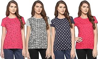 69GAL (105Women's T-Shirt (Multi Coloured) (Pack of 4) (S/M/L/XL/3CL/5XL)