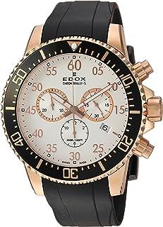 EDOX - Reloj Cronógrafo para Hombre de Cuarzo con Correa en Caucho 10227-37RCA-ABR