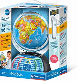 Clementoni 59184 Galileo Science – Digitaler Globus, sprechende Weltkugel mit interessanten Fakten, Infos zum Wetter & Ort...