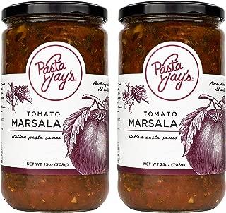Pasta Jay's Italian Pasta Sauce, Tomato Marsala, 25 oz (Pack of 2)