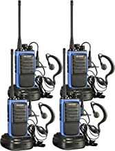 Arcshell Rechargeable Long Range Two-Way Radios with Earpiece 4 Pack UHF 400-470Mhz Walkie Talkies Li-ion Battery and Char...