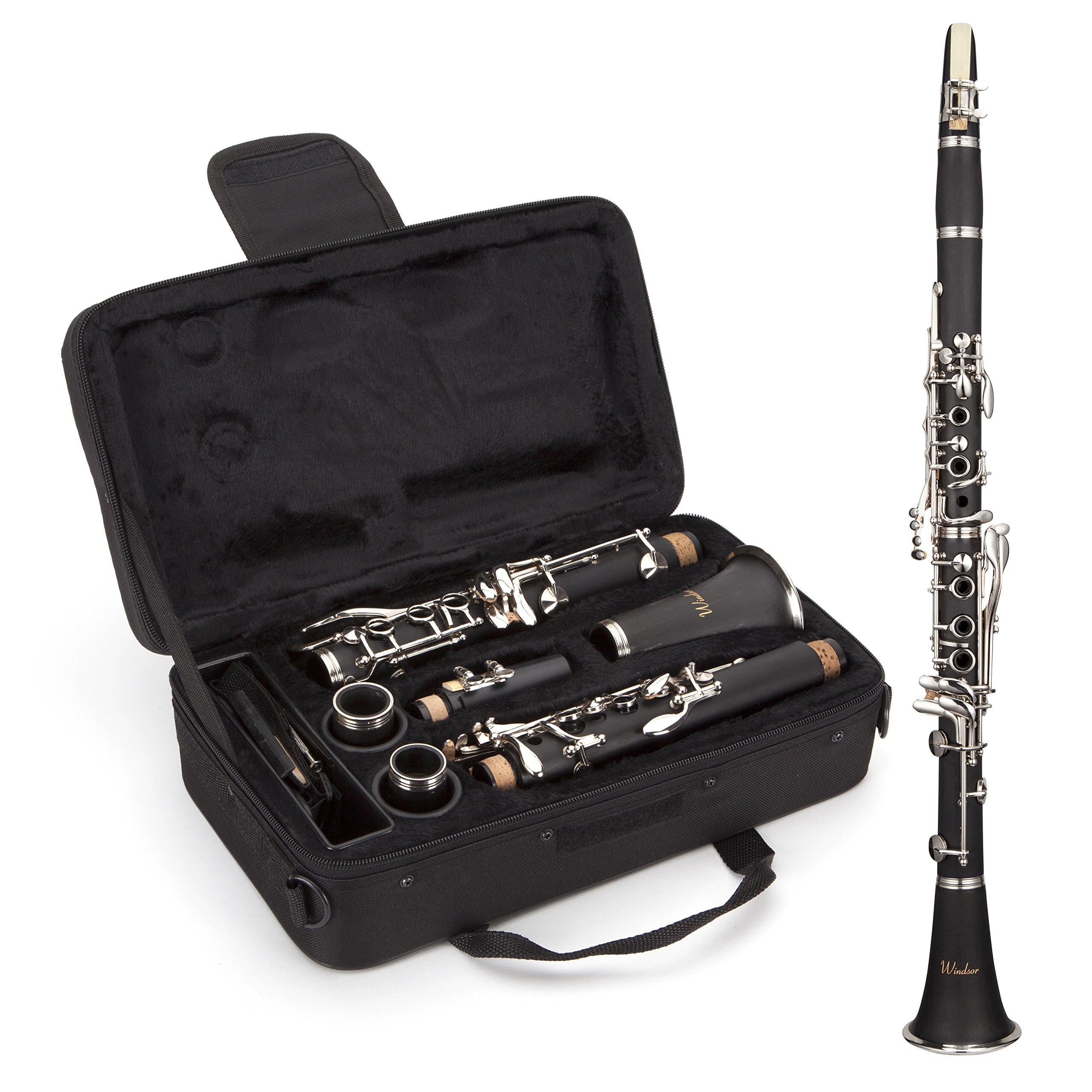 Windsor MI-1003 - Clarinete para estudiantes (en si bemol, completo con funda), color negro: Amazon.es: Instrumentos musicales