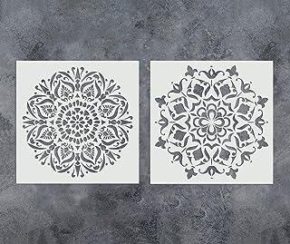 GSS Designs - Juego de 2 plantillas de mandala (305 x 305 mm) para