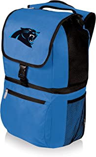 NFL Zuma Insulated Cooler Backpack, Blue, Carolina Panthers