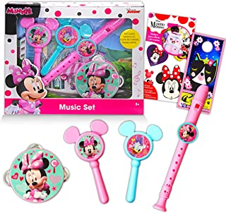 Disney Minnie Toy Set Minnie Mouse Musical Toys Bundle - 4 Pack Minnie Mouse Music Playset with Minnie Sticker (Disney Min...