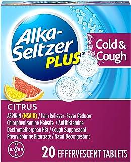 Best Alka-Seltzer Plus Severe Cold & Flu Medicine, Citrus Effervescent Tablets with Pain Reliever/Fever Reducer, Antihistamine, Cough Suppressant, Nasal Decongestant, 20 Count Review