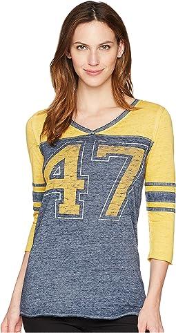 3/4 Sleeve Baseball Tee Shirt
