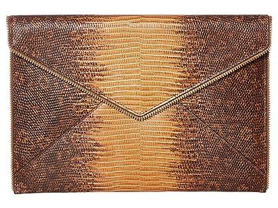 Rebecca Minkoff Leo Clutch (Nutmeg) Clutch Handbags
