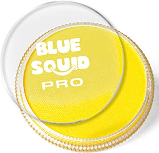 Blue Squid Pro Face Paint – Classic Yellow (30gm), Superior Quality Professional Water Based Single Cake, Face & Body Makeup Supplies for Adults, Kids & SFX