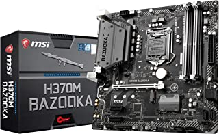 MSI H370M Bazooka - Placa Base Arsenal Gaming (LGA 1151, 1 x PCI-E 3.0 x 16 Slots, 4 DIMMS, 6 x SATA) Negro