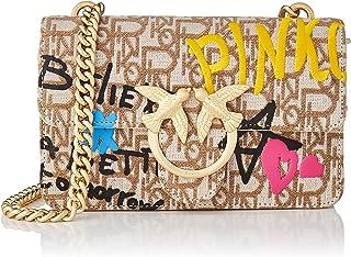 Pinko, Love Mini Icon Street Logo Mon Mujer, C61_Beige, Arena Cubana, U
