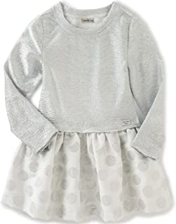 Calvin Klein Baby Crinkle Knit Body with Jacquard Skirt