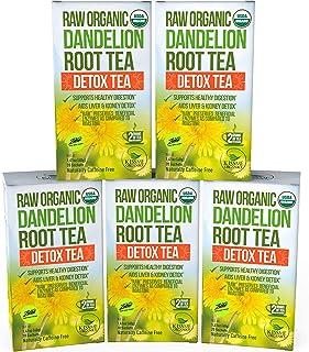 Dandelion Root Tea Detox Tea – Raw Organic Vitamin Rich Digestive – 5 Pack..