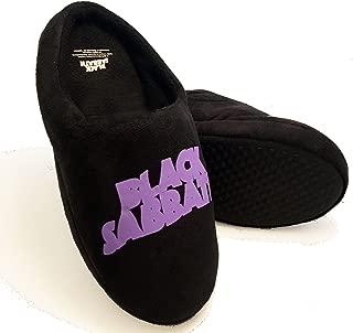 Rock Robes Mens Black Mule Slippers