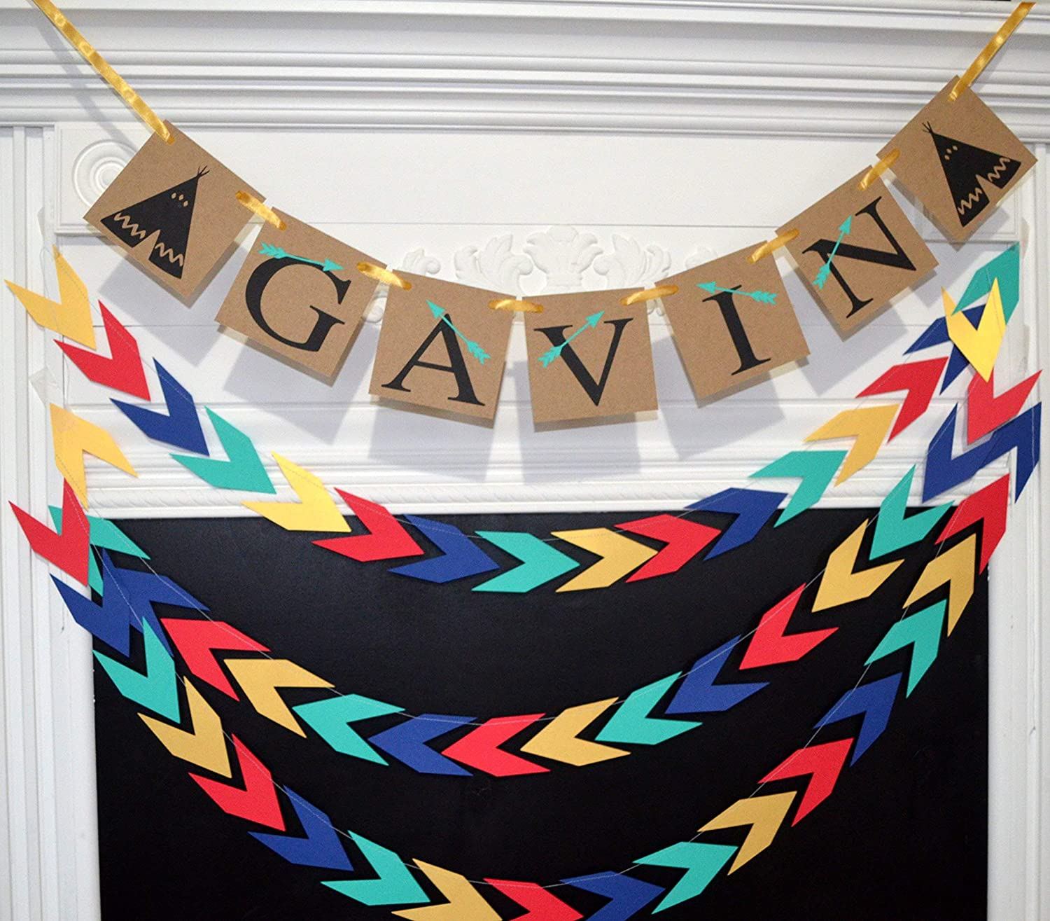 Name 35% OFF banner personalized Tribal arrow decorations Max 57% OFF baby