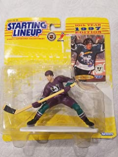 Starting Lineup TEEMU SELANNE/1997 - 10TH YEAR EDITION - MIGHTY DUCKS OF ANAHEIM NHL Action Figure & Exclusive Fleer NHL Collector Trading Card