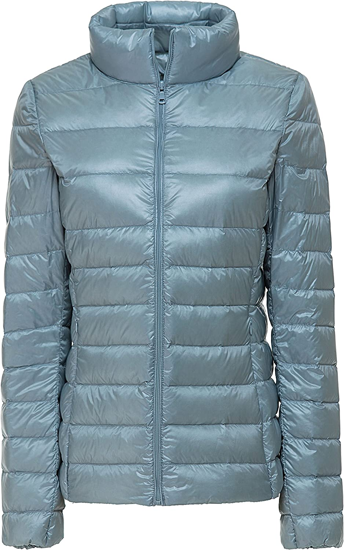 Yeokou Women's Casual Packable Lightweight Quilted Short Down Puffer Jacket Coat