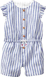 Gymboree baby-girls 1-piece Striped Button Down Bodysuit