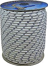 Corderie Italiane 006006022 touw, 6 mm, 100 m, wit met blauw bord