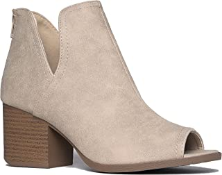 608f94659b4 Amazon.com: Open Toe - Grey / Ankle & Bootie / Boots: Clothing ...