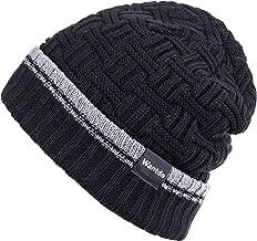 Wantdo Men's Warm Knit Beanie Hat Soft Stretch Acrylic Double Layer Skull Cap