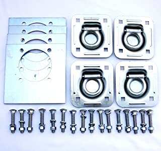WorldPac Gripon Pack of 6 - Recessed Tie Down Anchor with Heavy Backer Plates and Carriage Bolts Included (6,000 lb. Capacity)