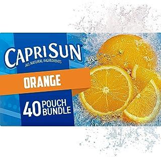 Capri Sun Ready-to-Drink Juice, Orange, 240 Fl Oz (Pack of 4)