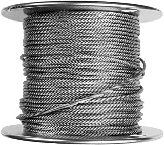 "1/16"" Stainless Steel Aircraft Wire Rope, 304 Grade Cable, 7x7-500ft"