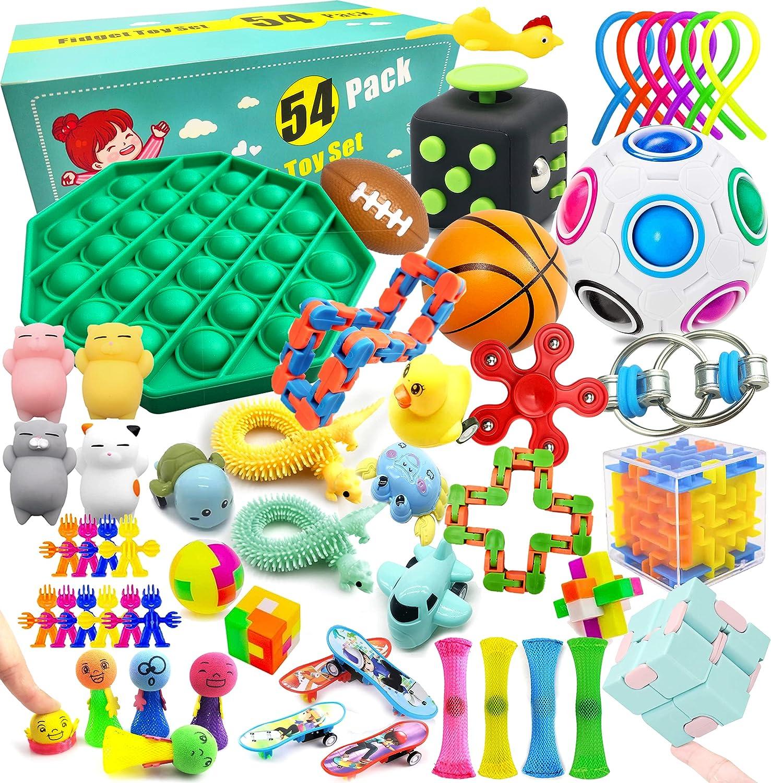 20PCS Stress Relief Toy Set Sensory Therapy Stress Toys Fidget Toys Sensory