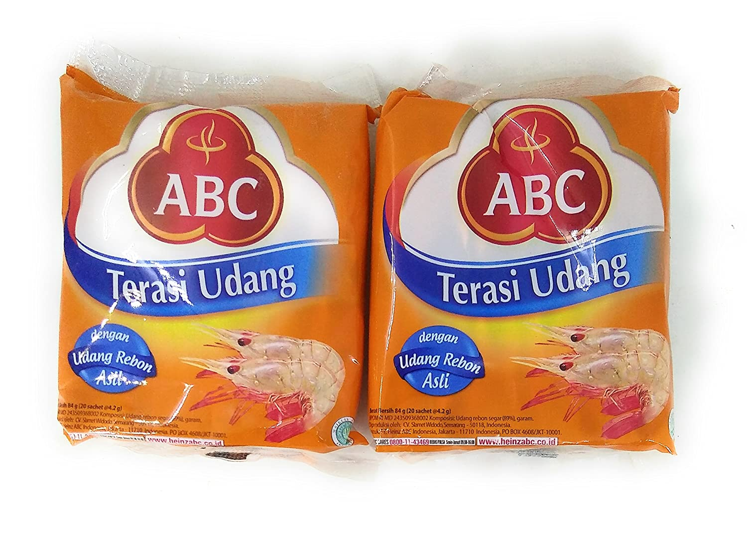 ABC Terasi Udang 100% quality warranty! single-use type 20 x 2 Rare Gram 4.2g 84 Pack of