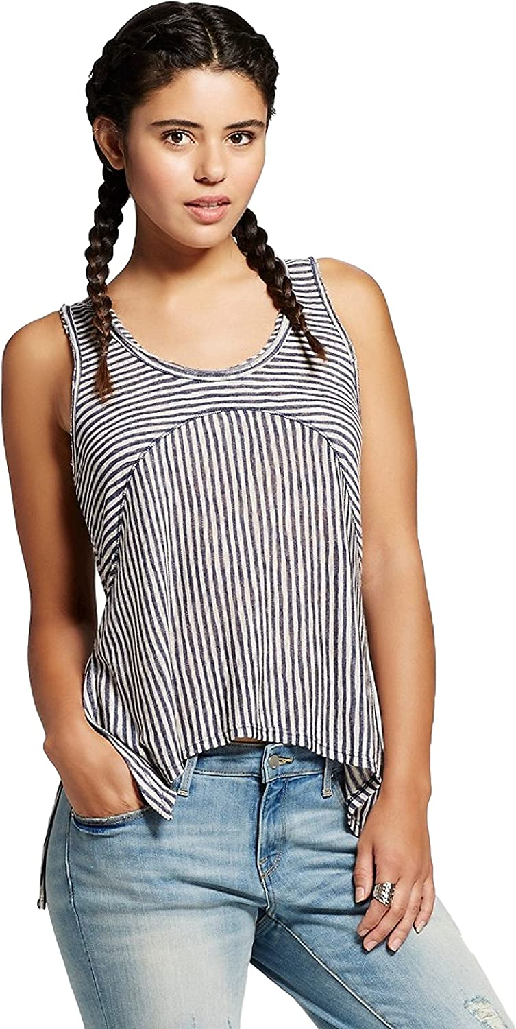 Hologram Women's Juniors' Mixed Stripe Tank Top