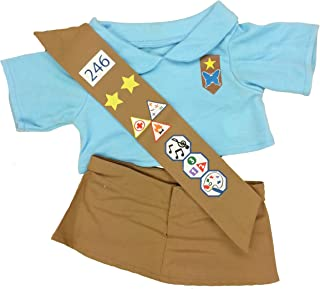 Girl Scout Blue Outfit Teddy Bear Clothes Outfit Fits Most 14