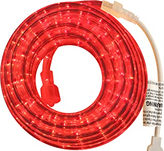 PERSIK Red Rope Light Outdoor Indoor - 18 Feet, 216 RED Incandescent Rope Lights