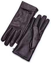 dark brown sheepskin gloves