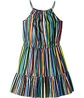 Milly Minis - Strappy Tier Dress (Big Kids)