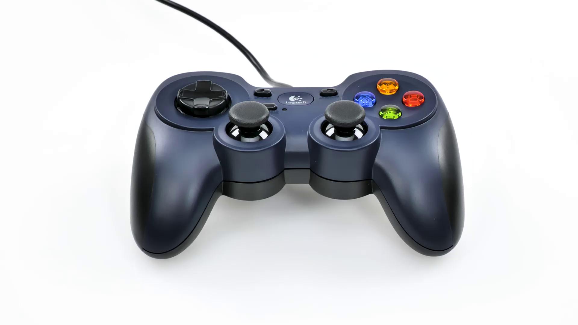 Logitech F310 Gamepad con Cable, Distribución Tipo Consola, Mando de Dirección 4 Conmutadores, Comodidad de Sujeción, Cable 1,8m, PC/Steam/AndroidTV , Azul/Gris: Logitech: Amazon.es: Informática