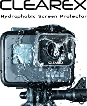 CLEAREX Hydrophobic Screen Protector for GoPro Hero 5, 6, 7 | Water Repellent, Tempered Glass, Ultra-Clear, Anti-Scratch | Capture Clearly (GoPro 5, 6, 7-Black)