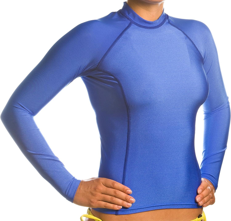 Beach Depot Women's Royal bluee Long Sleeve Rash Guard SPF 50+ Swim Shirt