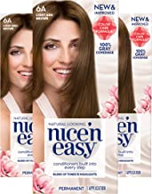 Clairol Nice'n Easy Permanent Hair Color, 6A Light Ash Brown, 3 Count