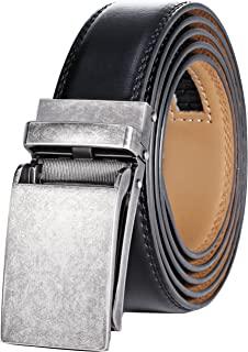 Men's Genuine Leather Ratchet Dress Belt with Linxx Buckle - Gift Box