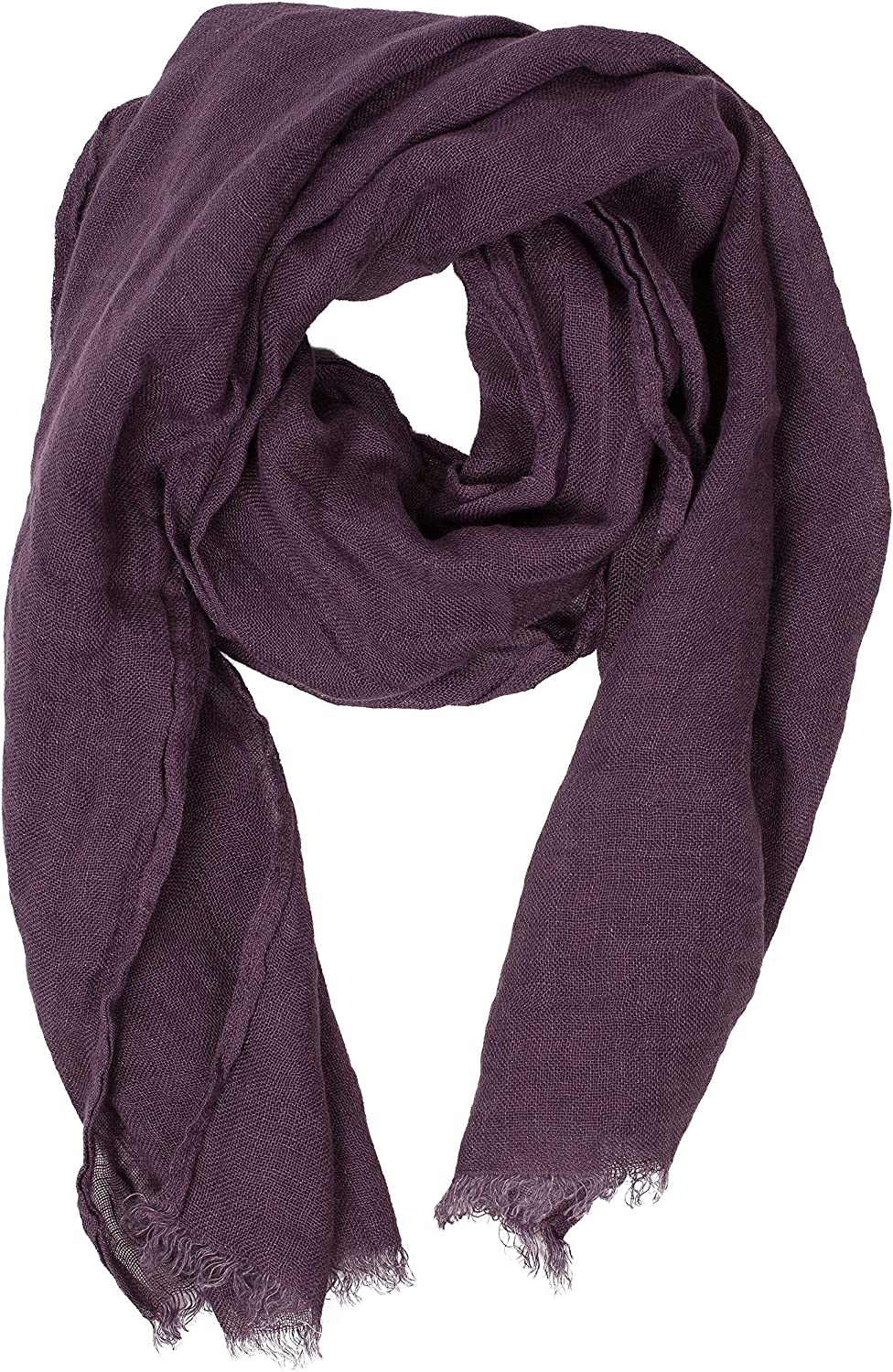 Purple Scarf   100% Linen Scarf   Scarves For Women   Mens Scarf   Linen