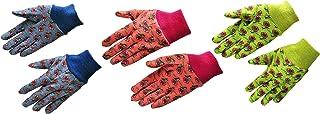 G & F 1823-3 JustForKids Soft Jersey Kids Garden Gloves, Kids Work Gloves, 3 Pairs..