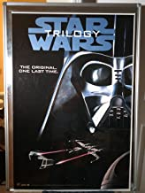 Star Wars Trilogy The Empire Strikes Back Return Of The Jedi VHS Darth Vader Glossy Original Single Sided Rolled 27x40 Video Poster 1995
