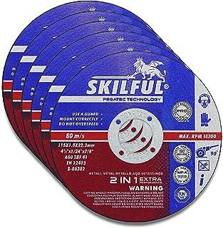 """SKILFUL 6 PCS 4.5 Inch Cut Off Wheels 4-1/2""""x.040""""x7/8"""" Cutting Wheel Die Grinder Cut Off Blades Fits Angle Grinder Air Tool"""