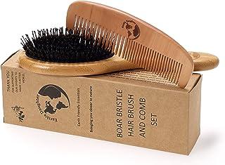 برس موی گراز موی نایلون و شانه آزاد | پین برای جدا کردن و تحریک بهتر پوست سر | لوکس برای موهای سالم تر و شاداب تر برای خانواده کامل