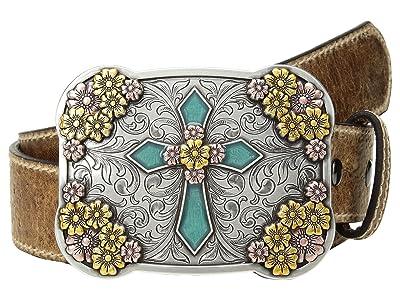 Ariat Vintage Stap with Cross Buckle Belt (Brown) Women