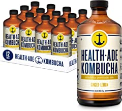 Health-Ade Kombucha Tea Organic Probiotic Drink, 12 Pack Case (16 Fl Oz Bottles), Ginger Lemon
