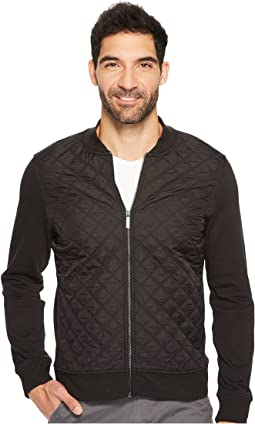 Perry Ellis - Quilted Nylon Full Zip Jacket